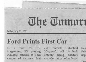 Ford to Print First Car